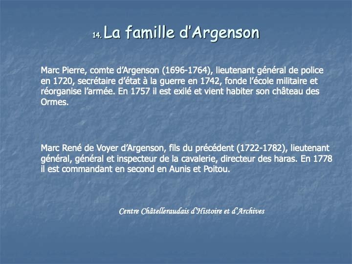 Famille d'Argenson