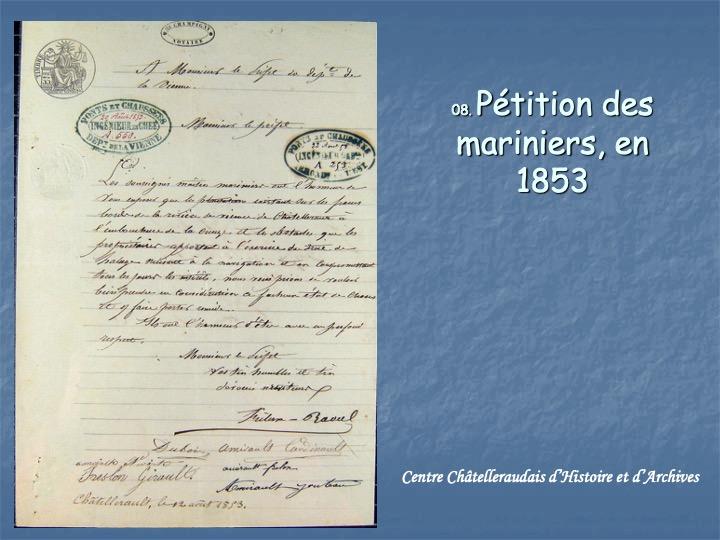 Pétition de mariniers1853