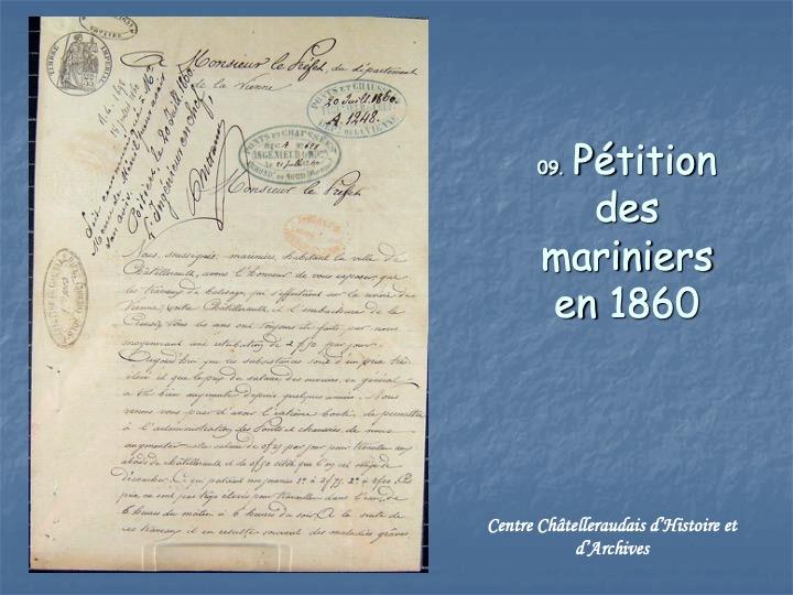 Pétition de mariniers 1860