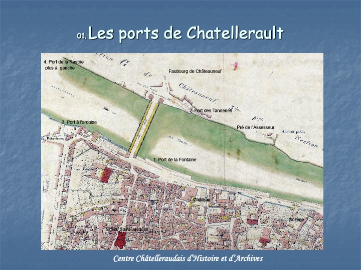 Les ports de Châtellerault